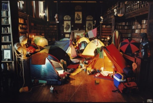 'It rained outside, so we camped inside - Tim Walker